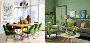 navrh interieru farba zelena